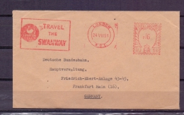 Great Britain -  Travel The Swanway - London 24/7/61 (RM5749) - Cigni