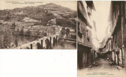 LOT 2 CPA 12 ENTRAYGUES SUR TRUYERE RUE BASSE +HOTEL ANDRIEU PONT - France