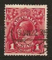 AUSTRALIA 1918 - Freimarke KING GEORG V - 1p Michel 55X a / fine used ʘ canc. cv�60,00 k001