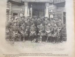1905 LE TSAR ET LES OFFICIERS DU R�GIMENT PREOBRAJENSKY / RUSSIE / PLAT DU JOUR Par HENRIOT / NOUVEAU MINISTERE