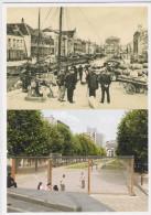 CPM - Bruxelles - Quai Aux Pierres-de-taille / Quai Aux Foins - Brussel - Hooikaai / Arduikaai - Places, Squares