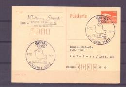D.D.R. - Goldener Spatz - Gera 7/2/89   (RM6400) - Oiseaux