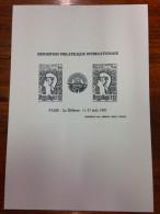 EPREUVE EN NOIR PHILEXFRANCE EXPO BLOC FEUILLET No. 8 FRANCE 1982 YT 2216 - 2217 SCHWARZDRUCK NSC ** - Ongebruikt