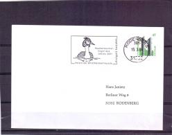 Deutschland - Haubentaucher - Vogel Des Jahres 2001 - Verein  Des Briefmarkenfreunde - Rodenberg 15/3/2001 (RM6641) - Oiseaux