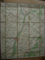 KAART STAFKAART +/- 1870 PLAN CARTE TOPOGRAPHIQUE NEVELE LANDEGEM HANSBEKE OVERPOUCKE MEERENDRE LOO LEERNE ST MARTIN