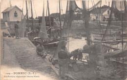 ¤¤  -  1209   -   PORNIC  -    Pêcheurs Réparant Leurs Filets  -  Bateaux De Pêches  -  Café Du Port    -   ¤¤ - Pornic