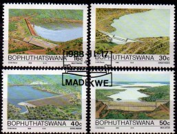 Staudamm 1988 In Südafrika Bophutatswana 210/213 O 4€ Wasserwirtschaft Seen Dämme Water Conservation Set Of South Africa - Bophuthatswana