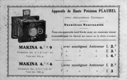 APPAREILS DE HAUTE PRECISION PLAUBEL  ( PLI ) - Photographie