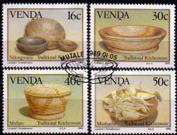Traditionelles Küchen-Geschirr 1989 In Südafrika Venda 183/186 O 4€ Geräte Traditional Kitchen-ware Set Of South Africa - Venda