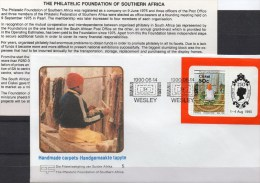 Teppiche Südafrika Ciskei Block 5 FDC 9€ Teppich-Weberei Bloque Hoja M/s Works Women Sheets Bf Cover Of South Africa RSA - Afrique Du Sud (1961-...)
