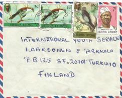 Sierra Leone 1981 Rotifunk Cuckoo 7c Grey Parrot 10c President Siaka Stevens 7c Cover - Sierra Leone (1961-...)