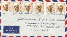 Sierra Leone 1979 Rotifunk President Siaka Stevens 5c Cover - Sierra Leone (1961-...)