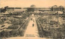 BRUXELLES. BELLA PROSPETTIVA SUI GIARDINI BOTANICI - JARDIN BOTANIQUE. CARTOLINA DEL 1928 - Foreste, Parchi, Giardini
