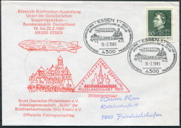 1981 Germany EssenGraf Zeppelin Polar Russlandfahrt 1930 Cover - Vols Polaires
