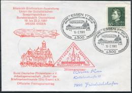 1981 Germany EssenGraf Zeppelin Polar Russlandfahrt 1930 Cover - Polar Flights