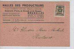 TP Préo S/CP Publicitaire Halles Des Prducteurs Bld D'Ypres Bruxelles En 1946 PR1022 - Precancels