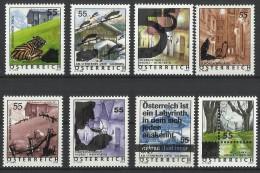"""Österr. 2005  Freimarken- Erg.-Wert  Überdruckmarken  """"Ferienland Österr.""""  ANK Nr. 2543 - 2550 **/ Feinst Postfrisch - 1945-.... 2nd Republic"""