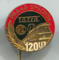 TRAM / STRASSENBAHN - Tatra, Praha, Smichov, Czech Republic, Vintage Pin, Badge - Transportation