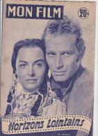 MON FILM N° 499   MARS 1956  CHARLTON HESTON DONNA REED   HORIZONS LOINTAINS - Cinéma
