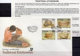 Küchen-Geschirr 1989 Südafrika Venda 183/6 FDC 8€ Traditionelle Geräte Traditional Kitchenware Set Cover Of South Africa - África Del Sur (1961-...)
