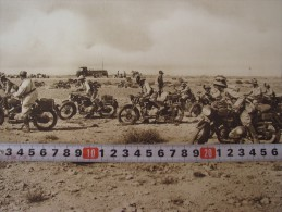 """MILITARY MOTORCYCLE DIVISION AFRIKA KORPS 1941 VINTAGE """"FERRANIA"""" POSTER, ADVERTISING, PHOTO,ARCHIVE?"""