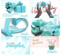 Germany - Allemagne - 6x Douglas Parfumerie - Carte Cadeau - Carta Regalo - Gift Card - Geschenkkarte - Frankreich