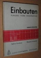 1960 EINBAUTEN: Planung Form Konstruktion HANS STOLPER Design 1st Edition Éléments Encastrés - Libri, Riviste, Fumetti