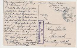 K. B. Wirtschafts Kompanie 140 18.1.19 Aschaffenburg Auf AK Schloss Vom Main Aus - War 1914-18