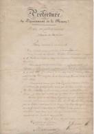 PV De Récolement Des Poids Et Mesures Du Bureau De Vérification à La Préfecture De La Meuse 1846 - Documents Historiques