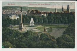 Stuttgart Schlossplatz mit altem Schloss / schlechte Erhaltung / Feldpost