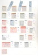 NORUEGA NORVEGE NORGE MAS DE 140 EUROS YVERT MONTADO EN CLASIFICADOR NUEVO DE 112 BANDAS COLOR ROJO - Norway