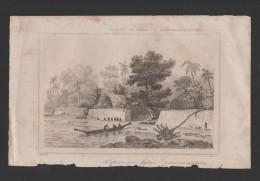 Years 1840s ART ANTIQUE PRINT TONGA FORT MAFANGA Sg DANVIN DEL / ALES SC - Tonga