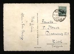 CAPRI 1948 - CARTOLINA CON BEL FRANCOBOLLO DA £8 ISOLATO X LA SVIZZERA - 6. 1946-.. Repubblica