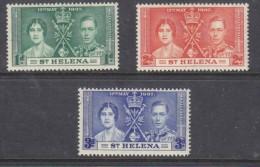 St Helena 1937 Coronation, MH * - Saint Helena Island