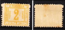 Egypt 1888, 2 Piastre Yellow, Postage Due, MH *, Toned - Egypt