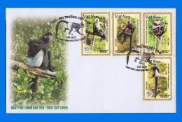 VN 2014-0019, Primates FDC - Vietnam