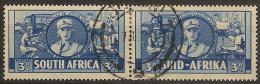SOUTH AFRICA 1941 3d H Pair SG 91 U #CM421 - Oblitérés
