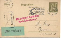 Germany 1924  Postkarte 15pf  (o) Mi. P 155  (Dresden 17.9.25 ) - Germany