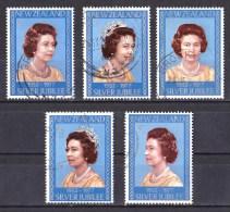 New Zealand 1977 Silver Jubilee - Queen Elizabeth Set Of 5 Used - New Zealand