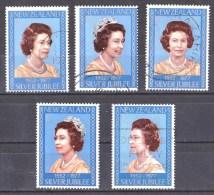 New Zealand 1977 Silver Jubilee - Queen Elizabeth Set Of 5 Used - - New Zealand