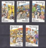 New Zealand 1977 Education Set Of 5 Used - - New Zealand