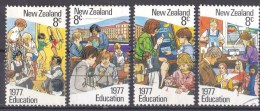 New Zealand 1977 Education 4 Different Used - - New Zealand