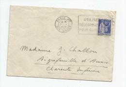 LETTRE , 1939 , PARIS XVI , Rue Singer , Flamme , Hôtel Du Bois De Boulogne , 164 Av Malakoff , 2 Scans - Marcofilie (Brieven)