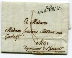 ALPES MARITIMES De SAN REMO LAC Du 20/01/1807 Linéaire 38x9 - Postmark Collection (Covers)