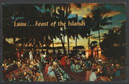 United States,  Hawaii, Luau, 1951. - Stati Uniti