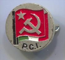 P.C.I. - Partito Comunista Italiano, Communist Party, Italy, Bertoni Milano, vintage pin, badge