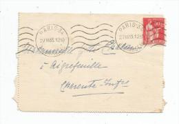 LETTRE , 1933 , PARIS 34 , AV. MARCEAU - Marcofilie (Brieven)