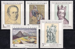 Tchécoslovaquie 1980 N°Y.T. : 2415 à 2419 ** - Nuovi