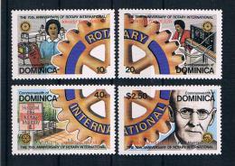 Dominica 1980 Rotary Mi.Nr. 672/75 kpl. Satz **