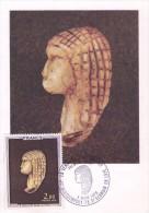Venus De Brassempouy-France-Carte Mximum-Toutes Les Cartes Sont Différentes-valeur 10 Euro - Archaeology